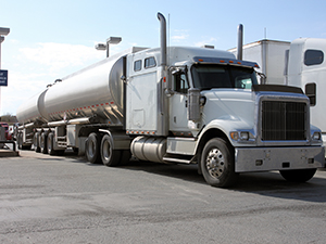 Gas truck filling up