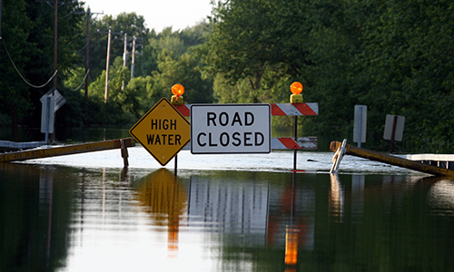 Flooding-road-closure