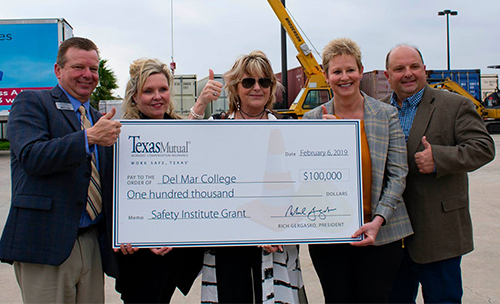 Texas Mutual awarded Del Mar College a $100,00 safety grant